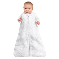 Baby wearing HALO SleepSack sleeping bag 0.5 TOG Midnight Moons