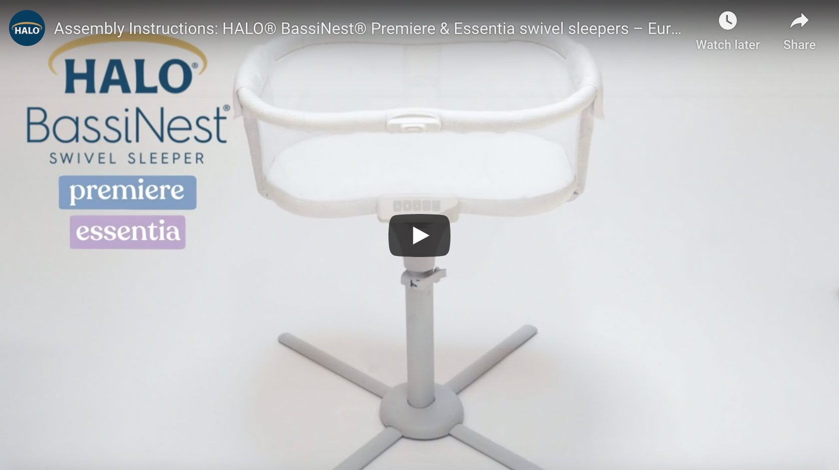 How to assembly your HALO Bassinest video