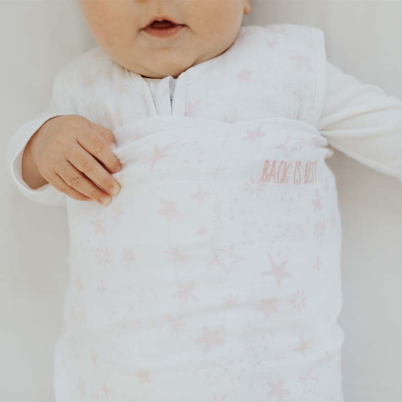 back is best embroidery featured on every halo sleep sack